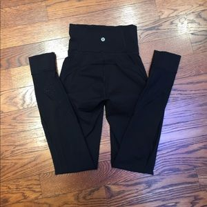 Lululemon Athletics black mesh leggings
